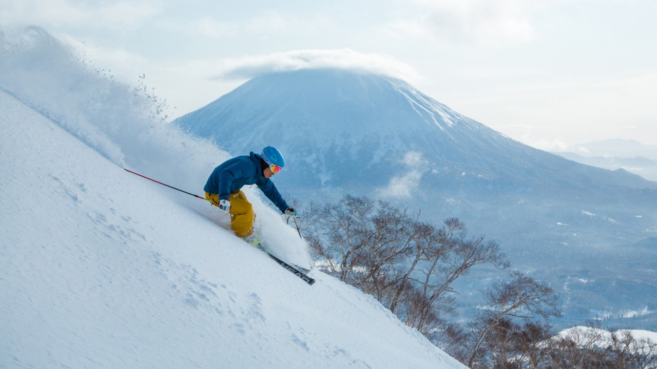 back country skier in Niseko